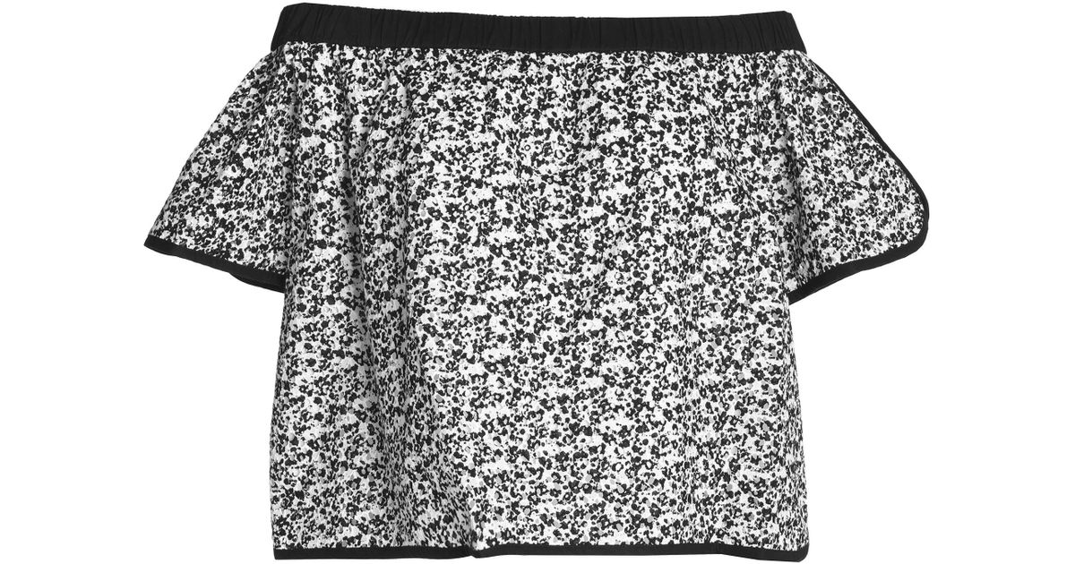 Rag & Bone Woman Off-the-shoulder Printed Broderie Anglaise Cotton Top Black Size M Rag & Bone Clearance Excellent Exclusive Cheap Price Clearance Official Site Wiki Sale Online 4RlVa