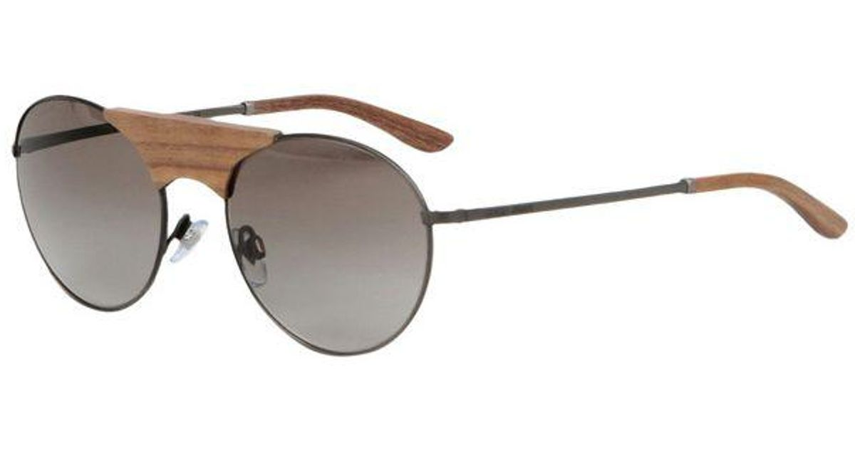 4aa64b3d9f9 Giorgio Armani Black Metal With Wooden Bridge Frames And Grey Lenses  Sunglasses Ar6017tk 30848e in Black for Men - Lyst