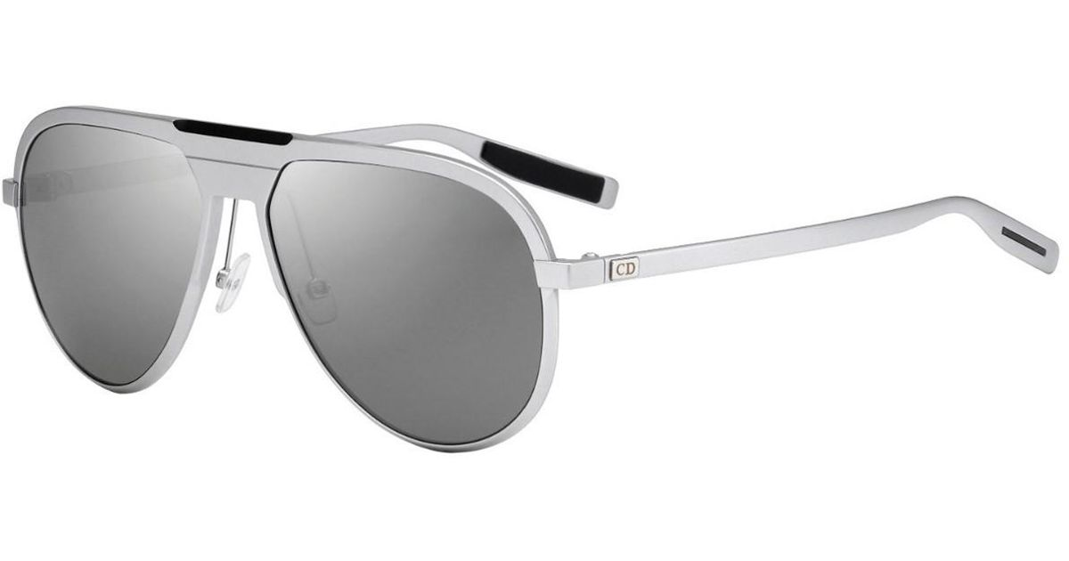 ee7a10385c6 Lyst - Dior Homme Silver Aviator Frames With Polarized Grey Lenses 13.6  011 sf in Metallic for Men