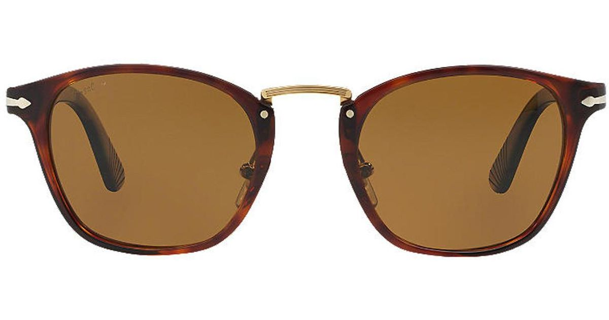 51e7cb895c8dc Lyst - Persol Typewriter Edition Po3110s 24 57 Havana With Crystal Brown Lenses  Sunglasses in Brown for Men