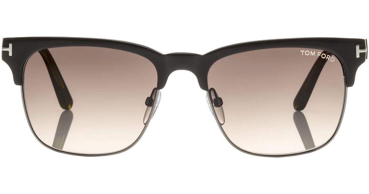 5c316ef0fe6 Lyst - Tom Ford Louis Vintage Square Dark Green Frames With Grey Lenses  Sunglasses Ft0386 48k in Green for Men