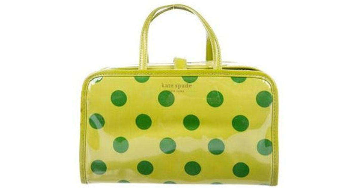 2cf4727340 Lyst - Kate Spade Small Manuela Cosmetic Case Lime in Metallic