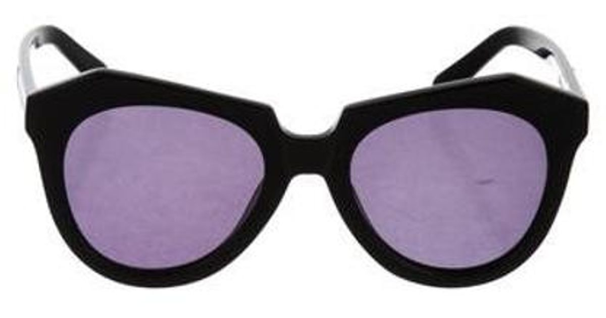 9a49e72d9c Lyst - Karen Walker Number One Oversize Sunglasses in Black