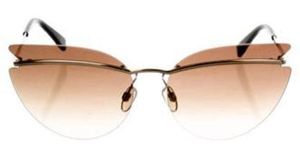 a00eabb527f2 Lyst - L Wren Scott Gradient Rimless Sunglasses Gold in Metallic