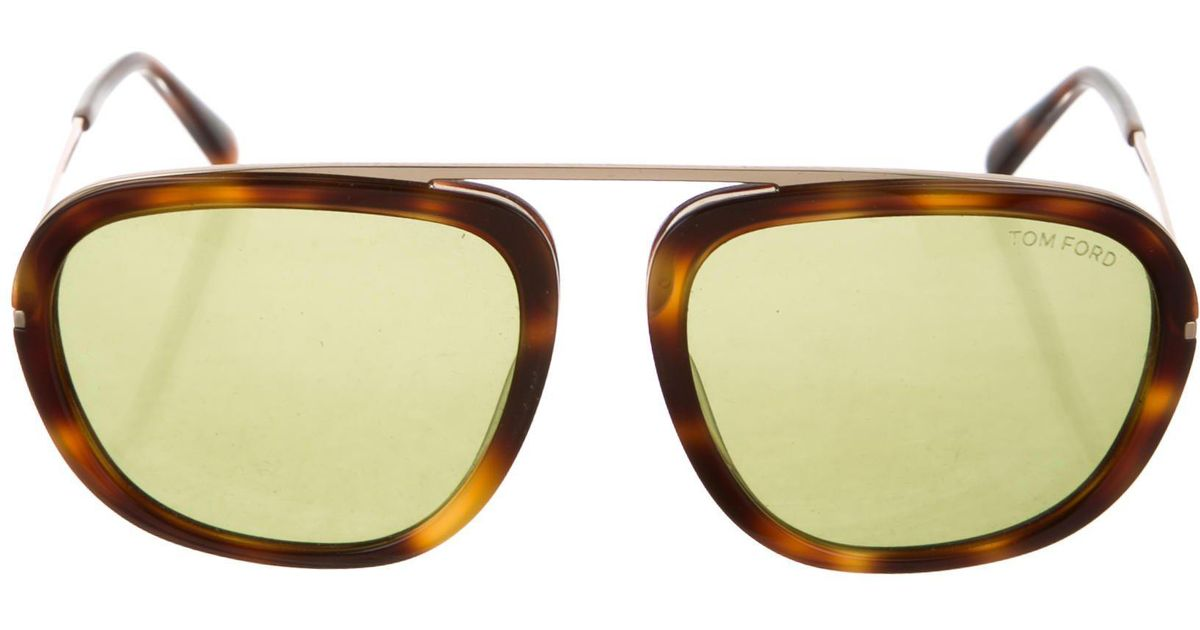 2a605b7710c Lyst - Tom Ford Johnson Tortoiseshell Sunglasses Brown in Natural