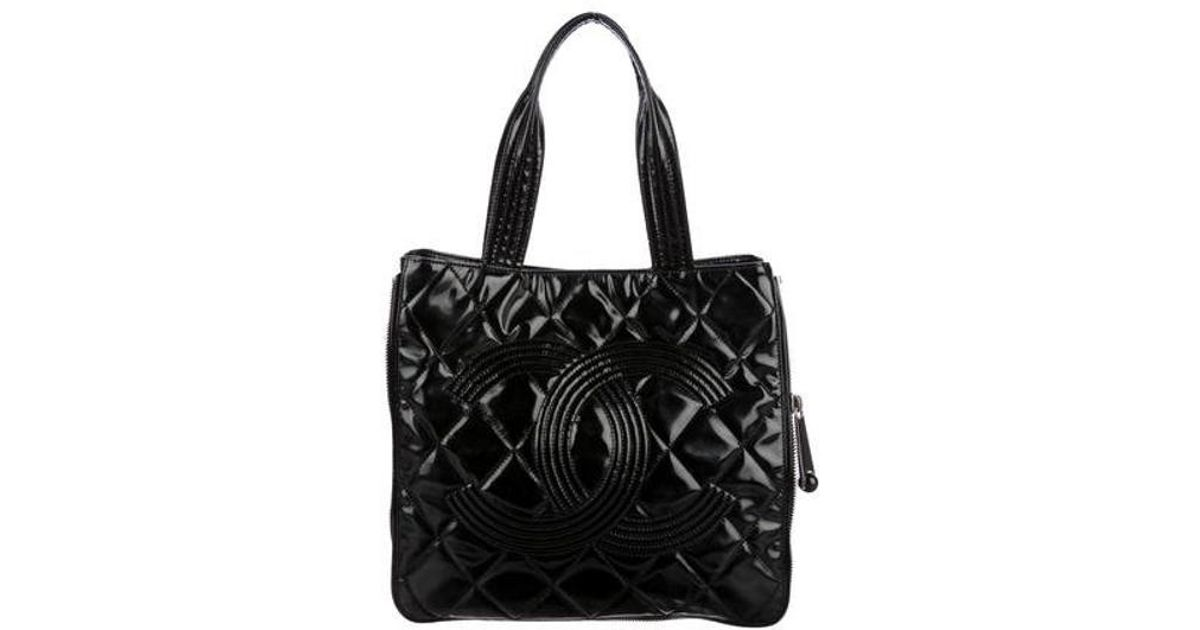 eb2befb5436d Lyst - Chanel Paris-shanghai Expandable Tote Black in Metallic