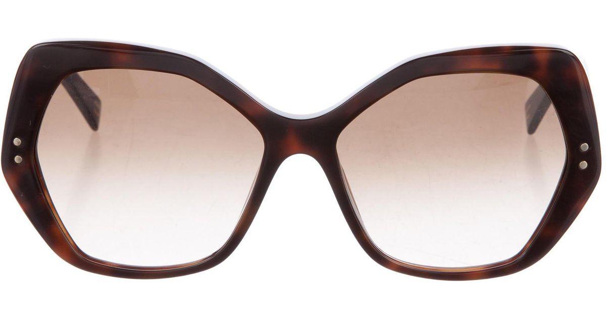 a6ad252f80 Geometric Marc Lyst Jacobs Brown Tortoiseshell Sunglasses In q7wtZag