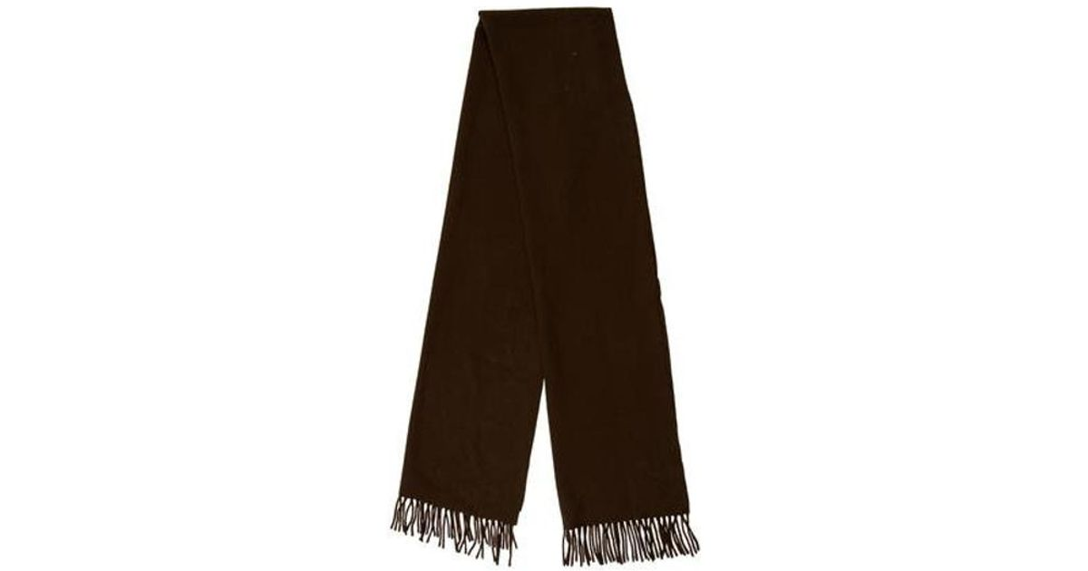 Lyst - Acne Fringe Wool Scarf in Brown a18e036240a