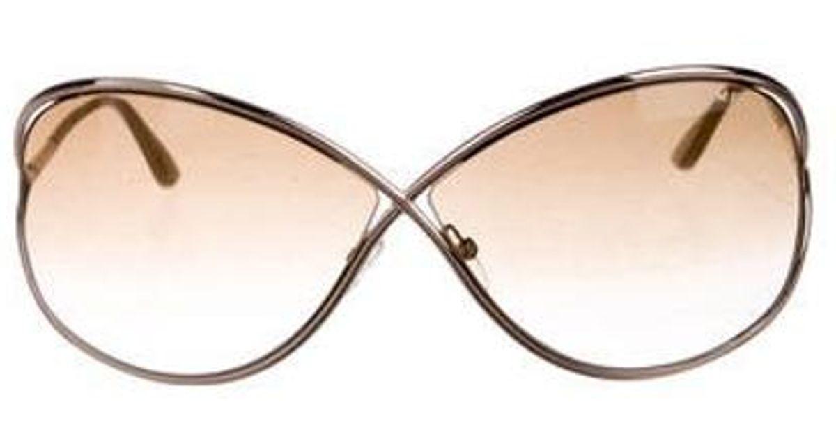 69de0060ad0 Lyst - Tom Ford Miranda Gradient Sunglasses Gold in Metallic