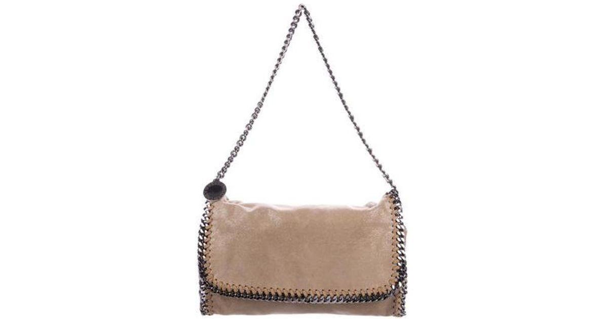 7850959c0428 Lyst - Stella Mccartney Shaggy Deer Falabella Flap Shoulder Bag Tan in  Natural