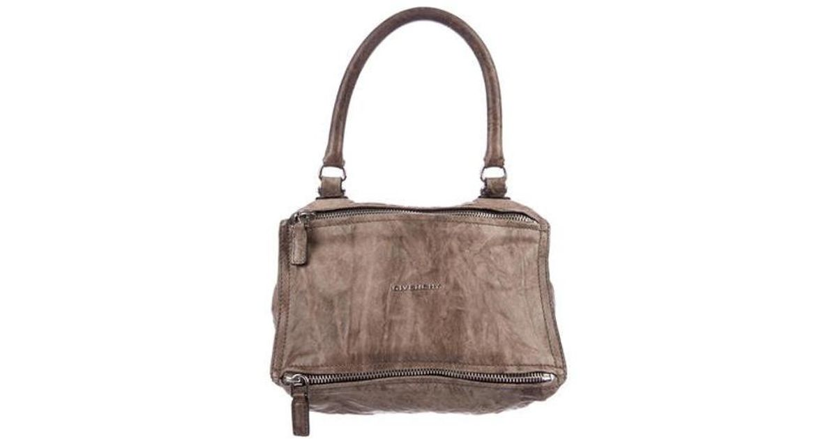 f0a8ad62ee Lyst - Givenchy Small Pandora Bag Brown in Metallic