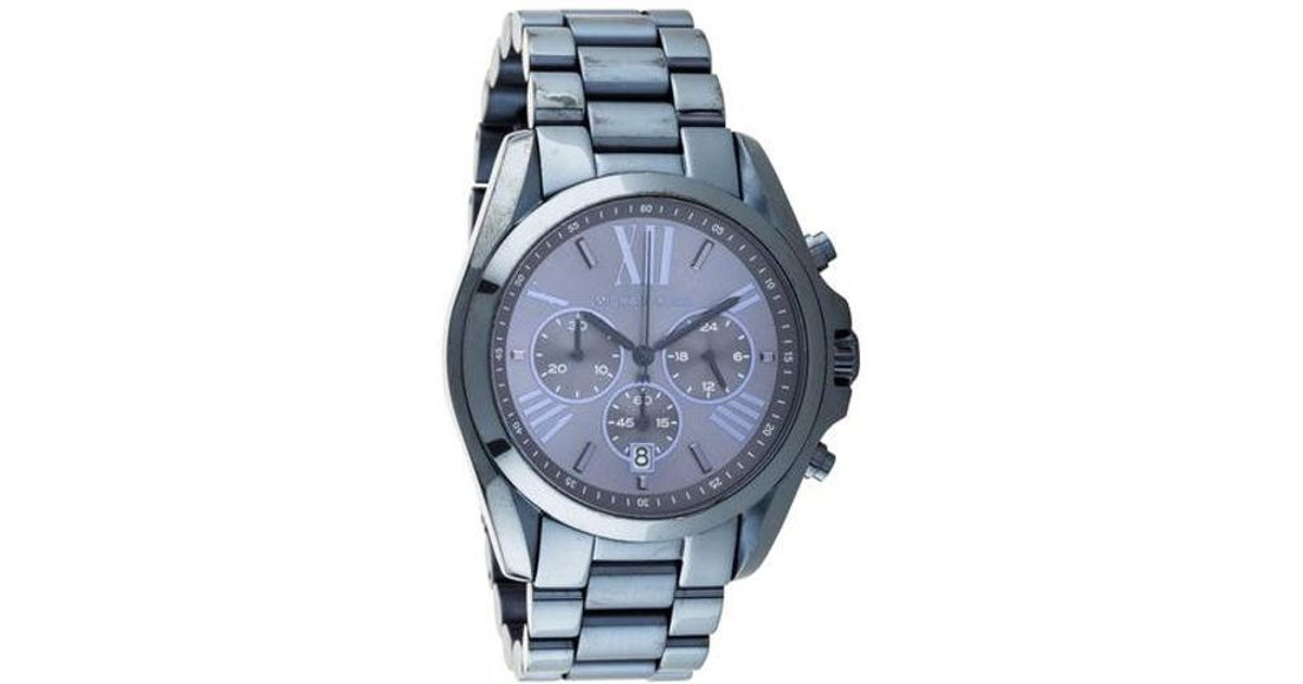 7150f1092a16 Lyst - Michael Kors Bradshaw Watch Blue in Metallic