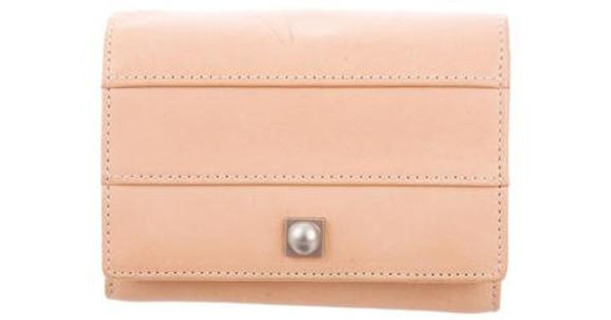 adee9a2499 Lyst - Reed Krakoff Leather Compact Wallet Tan in Natural
