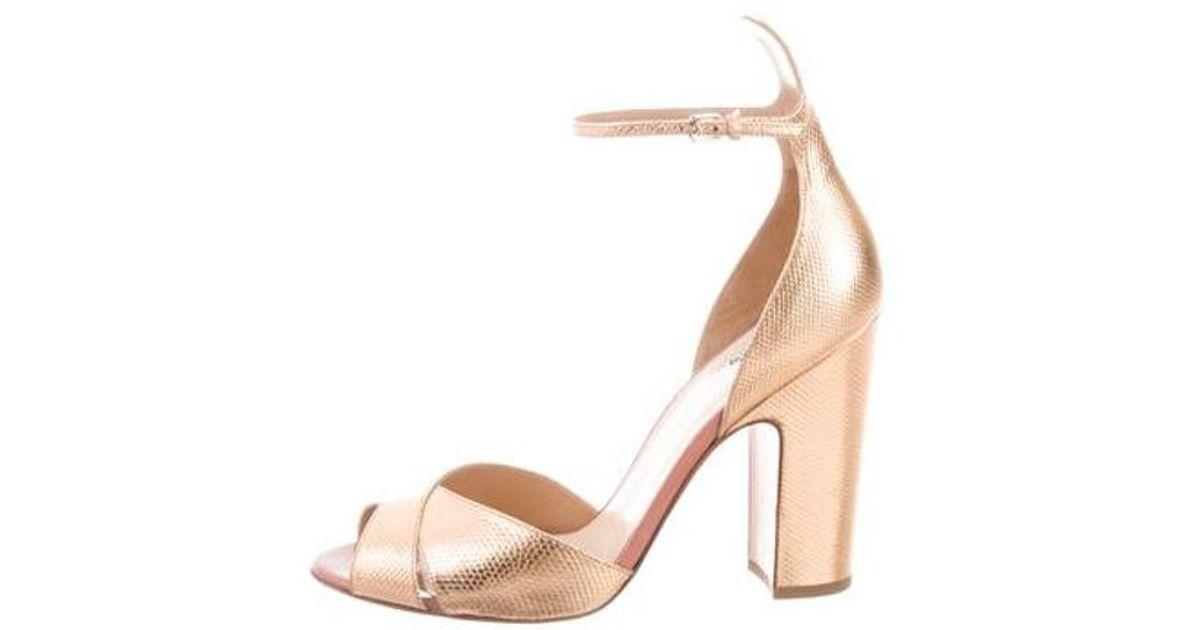 60d8c5379b6 Lyst - Francesco Russo Ankle-strap Sandals Bronze in Metallic