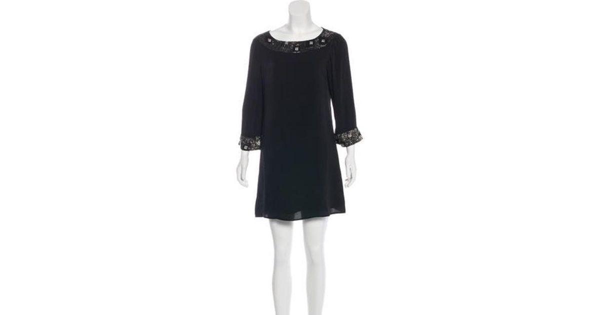 Lyst Alice Olivia Embellished Mini Dress In Black
