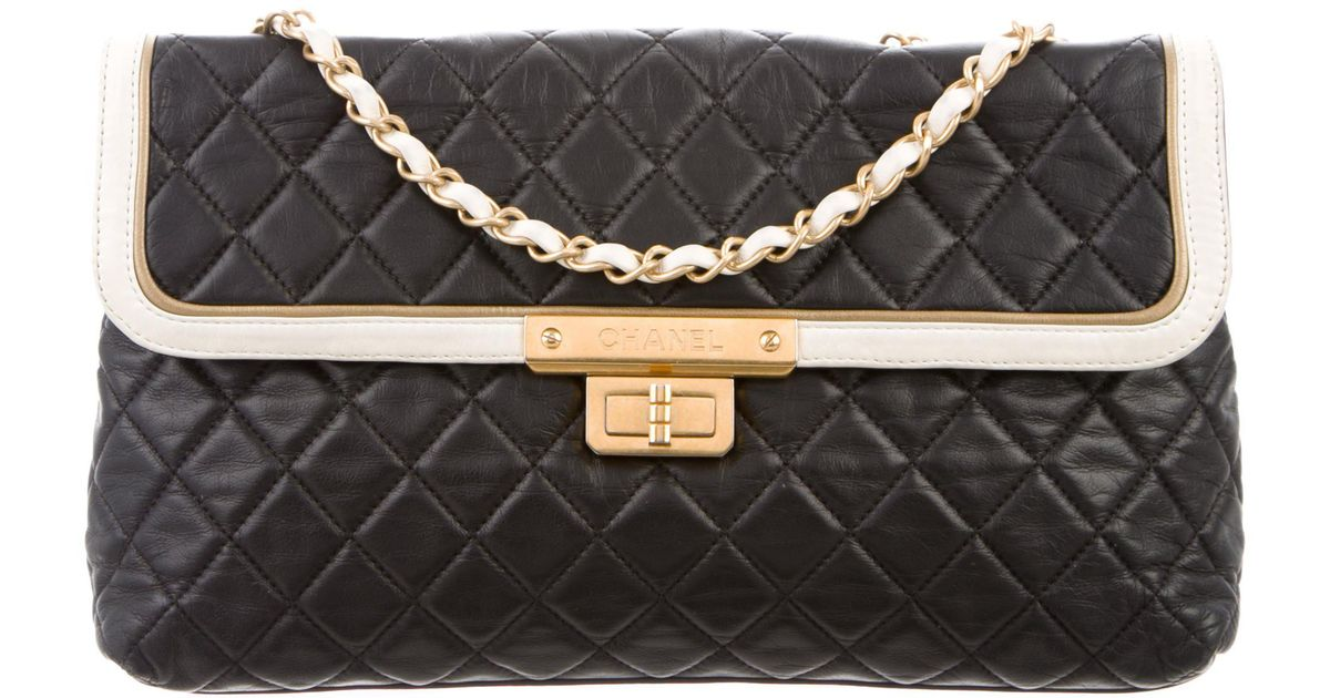 1c6068e337b Lyst - Chanel Quilted E w Flap Bag Black in Metallic