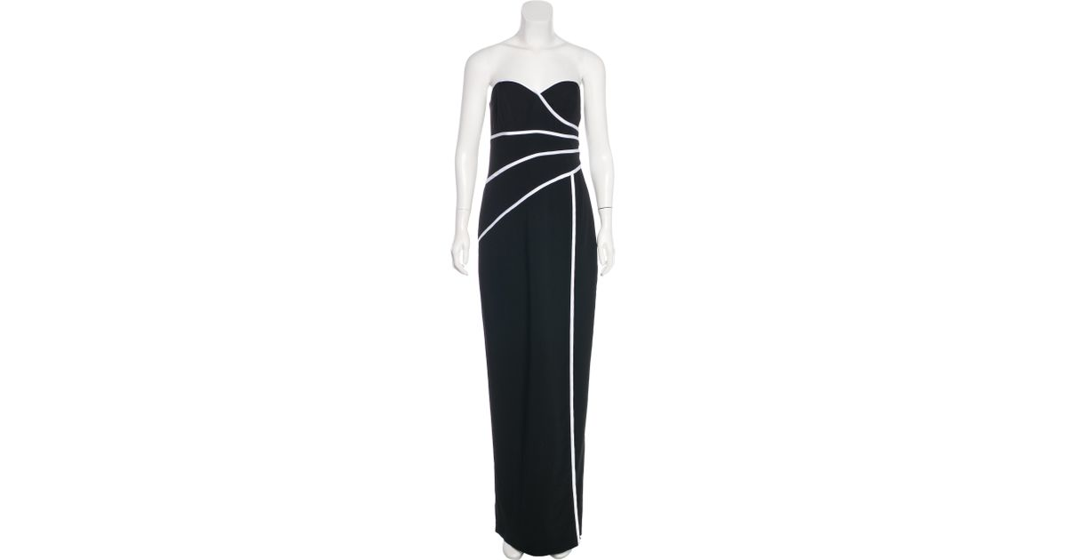 Lyst - David Meister Strapless Evening Gown W/ Tags in Black