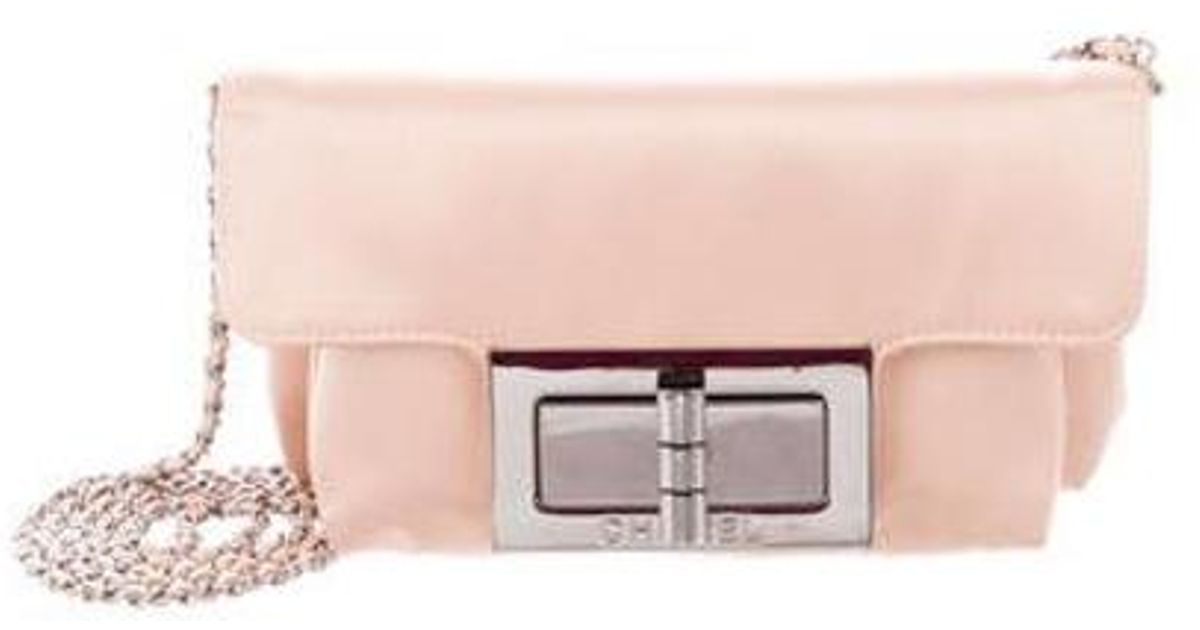 4dbe65b548ff Lyst - Chanel Mademoiselle Flap Bag Pink in Metallic