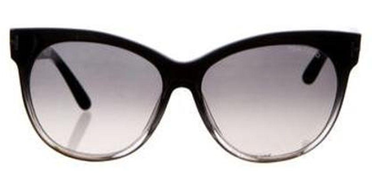 e0d0331fb36 Lyst - Tom Ford Saskia Cat-eye Sunglasses Black in Metallic