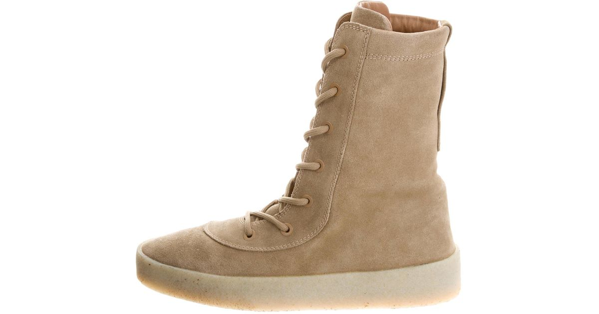 bfd29a07f970f Lyst - Yeezy Season 4 Military Boots Neutrals in Natural