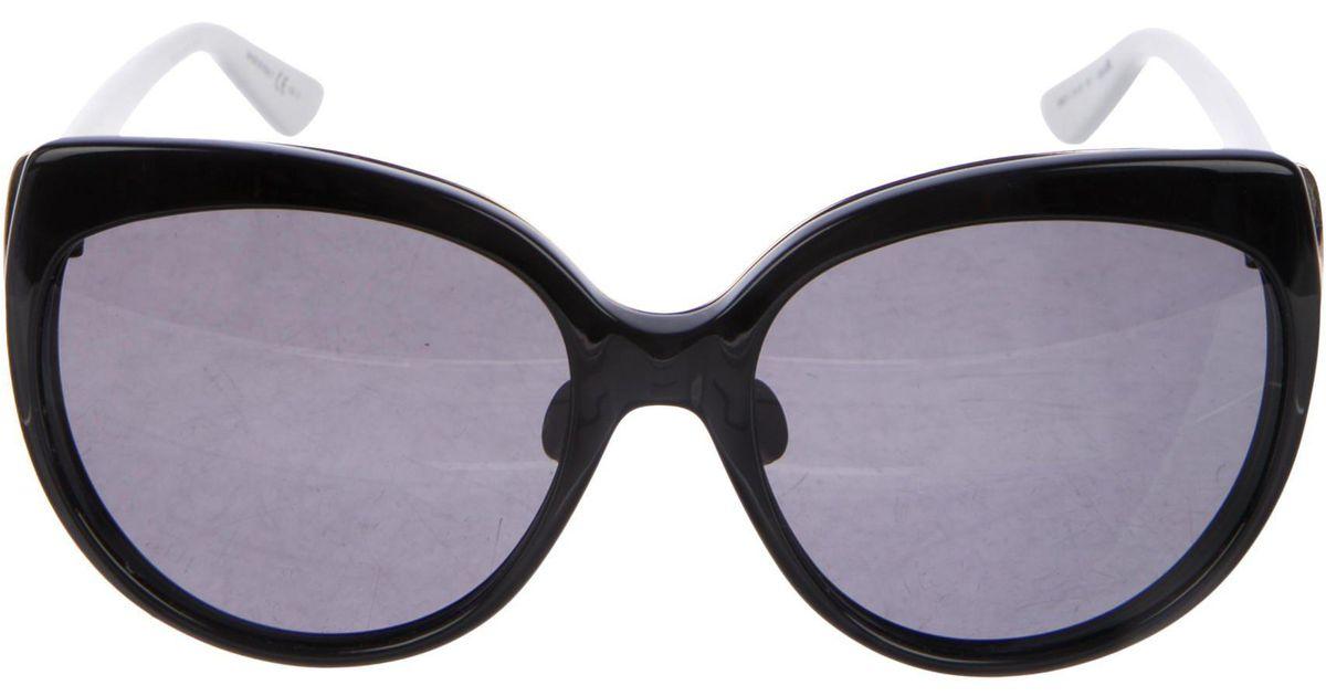 d3f94a2071 Lyst - Dior Diorific 1n Oversize Sunglasses in Black