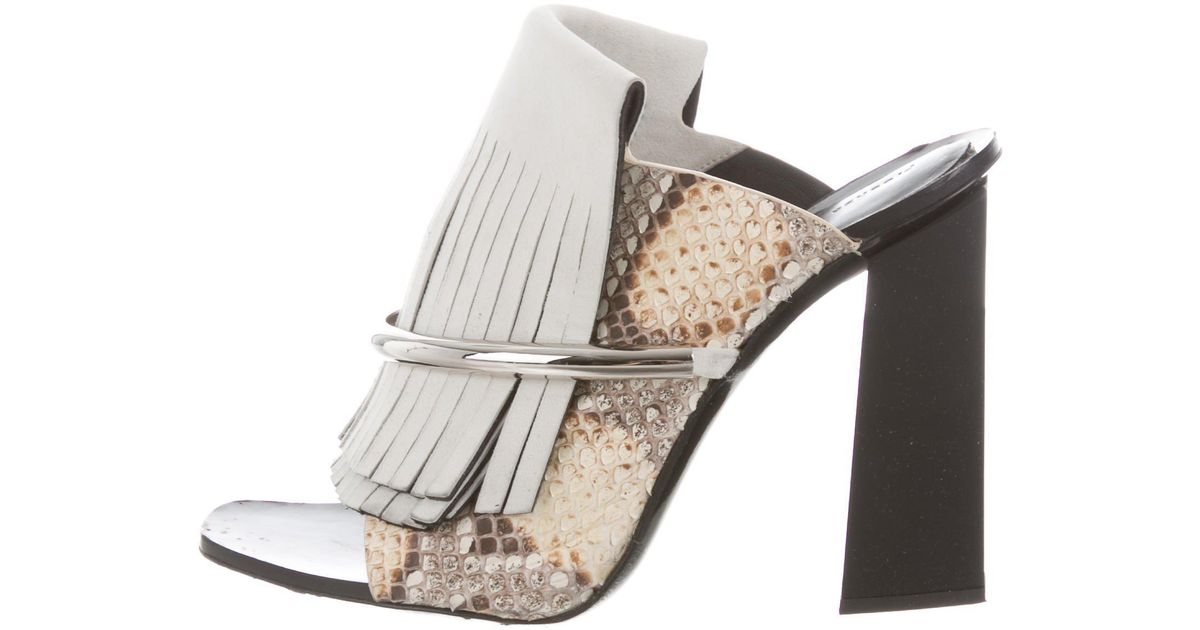 Proenza Schouler Python Kiltie Sandals free shipping prices pictures online real sale online Hb2b5QQaAx