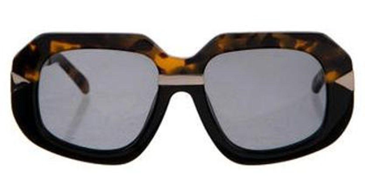 08d9e713a304 Lyst - Karen Walker Hollywood Creeper Sunglasses Brown in Metallic