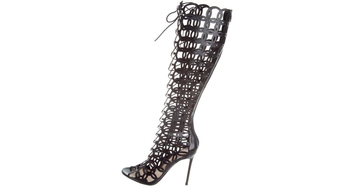 Gianvito Rossi Olympia Laser Cut Sandals w/ Tags sale sast low shipping fee for sale under 70 dollars cheap sale geniue stockist sale best jhAYN7U
