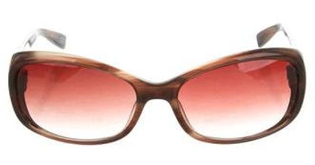 4d227d8d990 Lyst - Oliver Peoples Phoebe Gradient Sunglasses in Brown