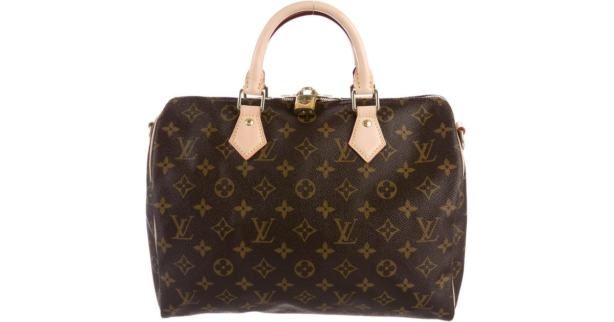 1aad5825fa06 Lyst - Louis Vuitton 2017 Monogram Speedy Bandoulière 30 Brown in Natural