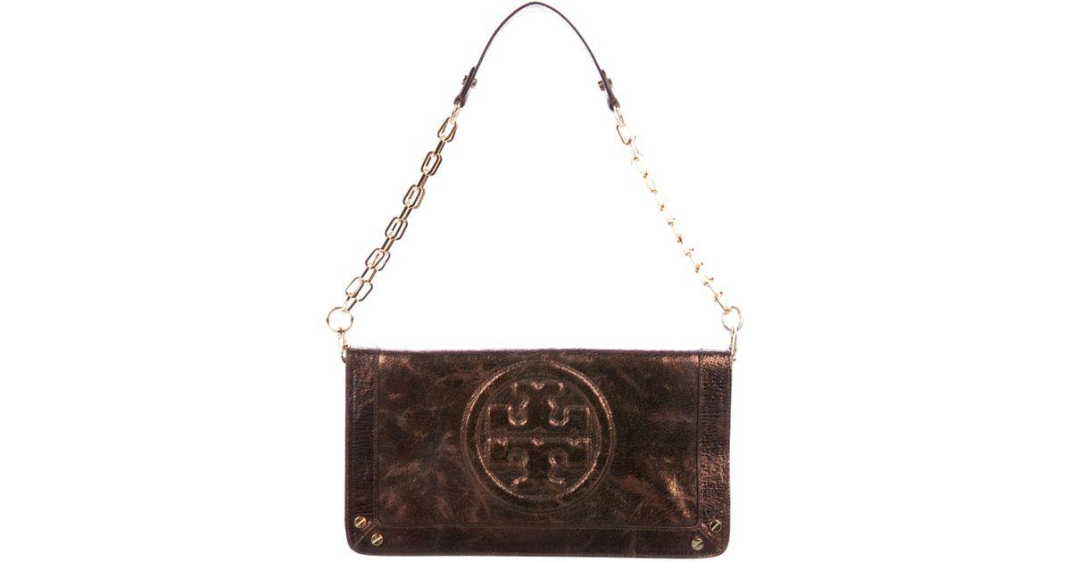 3823d2d9d1f4 Lyst - Tory Burch Ponyhair Chain-link Shoulder Bag in Metallic