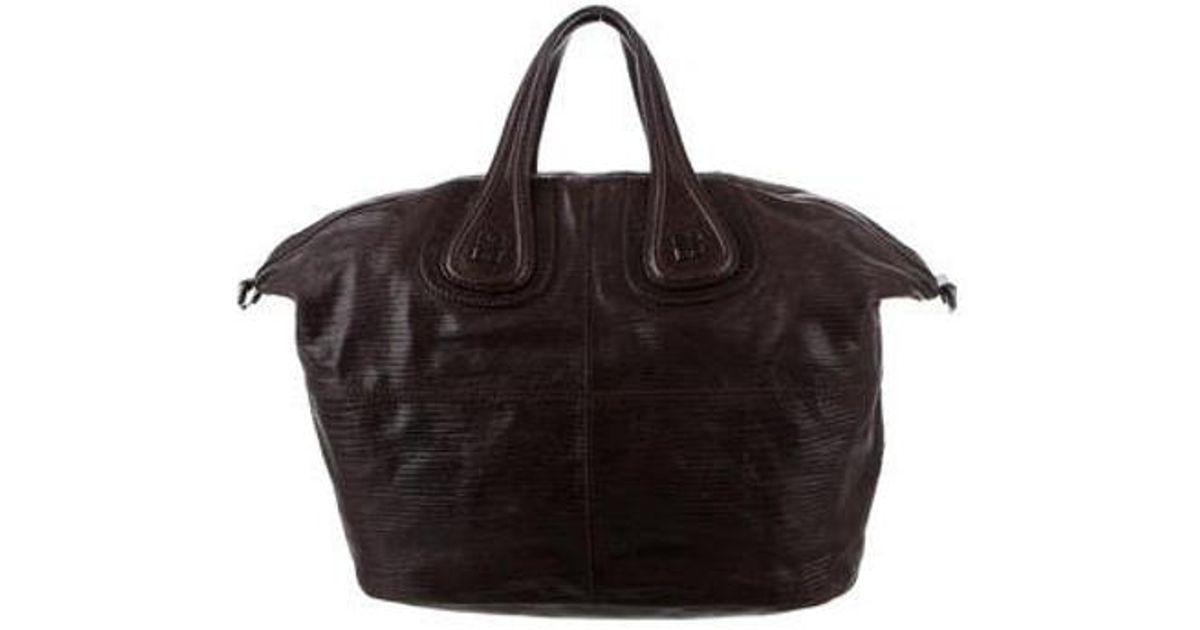 6aab94f4e230 Lyst - Givenchy Leather Nightingale Satchel in Brown
