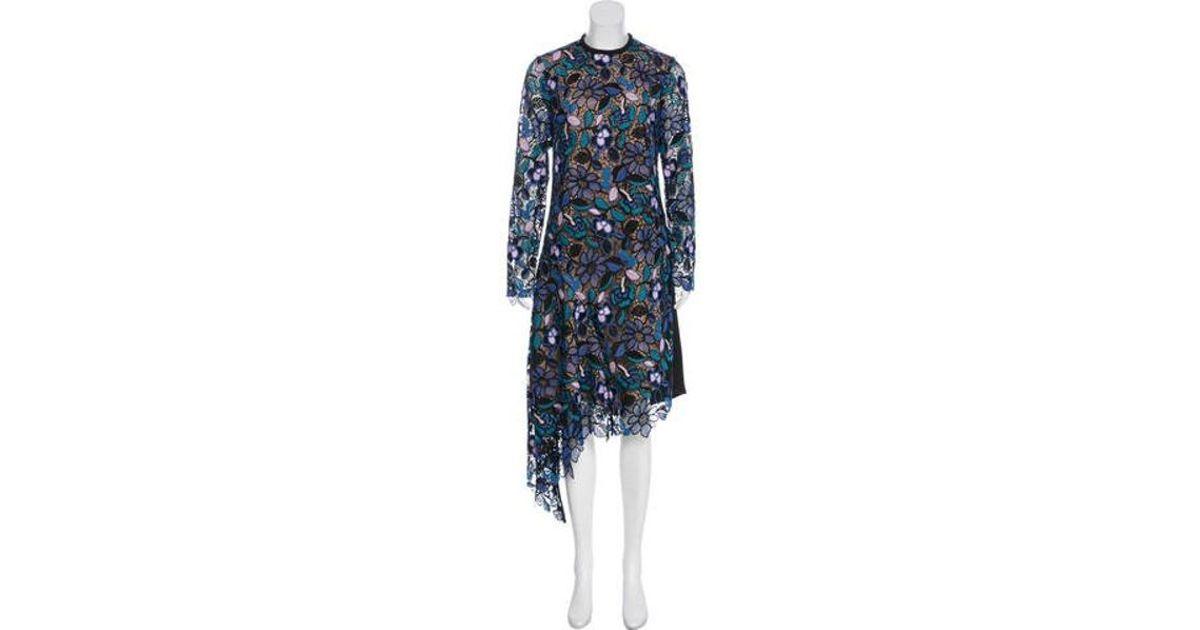 3621cbd4b4013 Lyst - Self-Portrait Elora Midi Dress W/ Tags in Blue