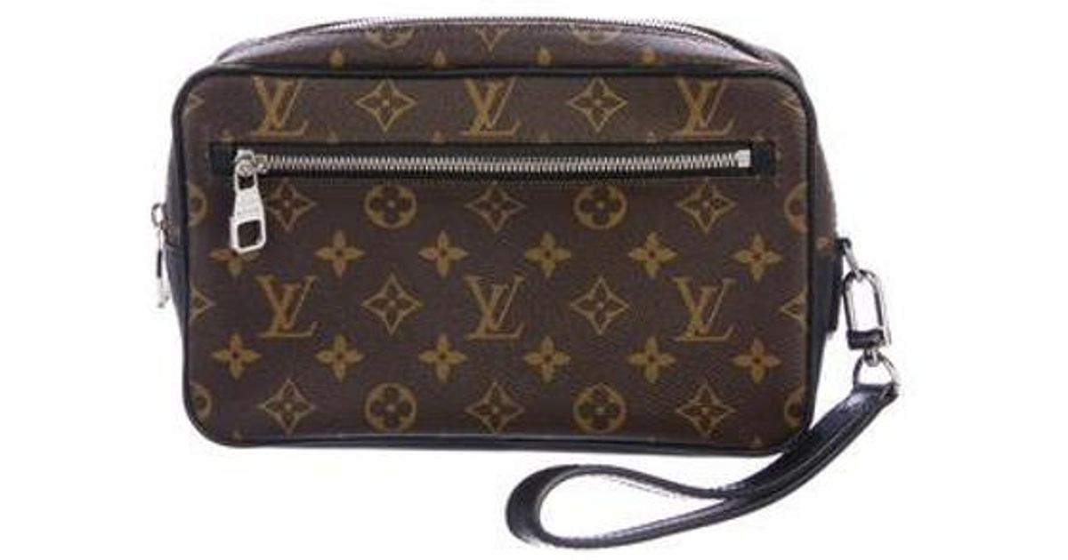 1af103fe5e62 Lyst - Louis Vuitton 2017 Monogram Macassar Kasai Clutch Brown in Metallic  for Men