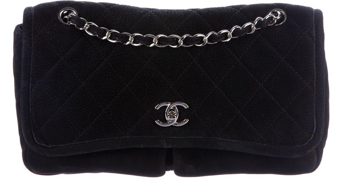 7fa83b9c20e5 Lyst - Chanel Natural Beauty Large Flap Bag Black in Metallic