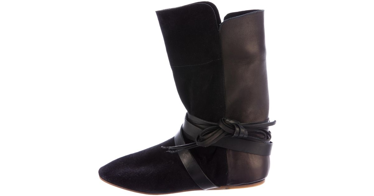 visit new online Isabel Marant Nira Suede Booties discounts sale online shop offer 3GxycRYp