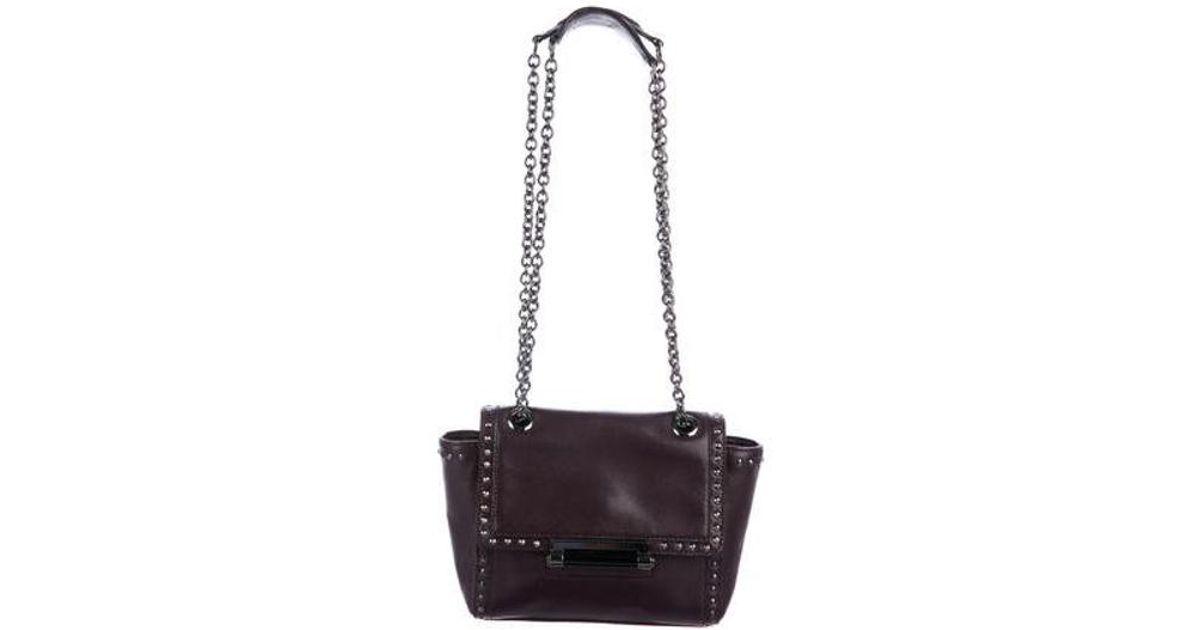 675d0d6ab192 Diane von Furstenberg - Purple Studded Mini Faceted Bag - Lyst