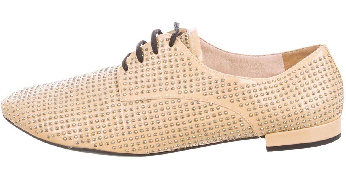 Miu Miu Patent Leather Studded Oxfords clearance best sale PFbQHN