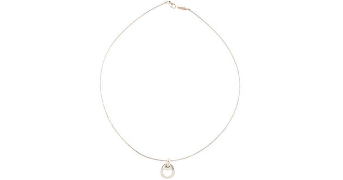 9882c7afa Lyst - Tiffany & Co Vintage Stencil Heart Pendant Necklace Silver in  Metallic