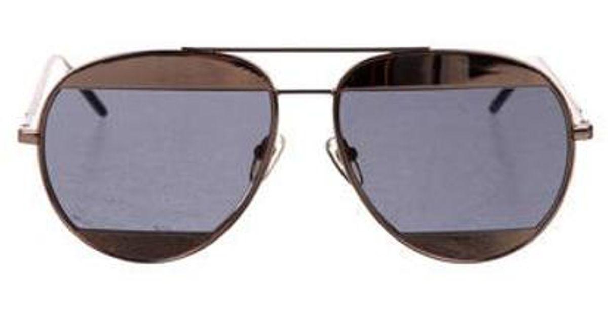 2aeb749d180e Lyst - Dior Split 1 Aviator Sunglasses Gold in Metallic