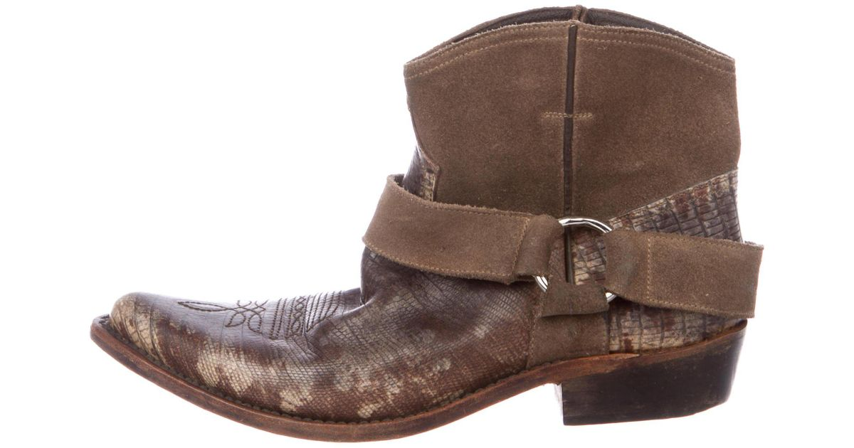 Golden Goose Embossed Ankle Boots free shipping 100% authentic pay with visa for sale discount wiki S5NBdxSq