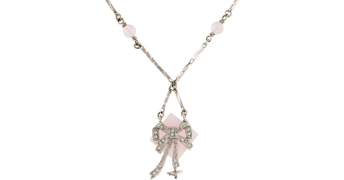 Rosa Maria pink quartz and diamond pendant necklace - Metallic q8SKL