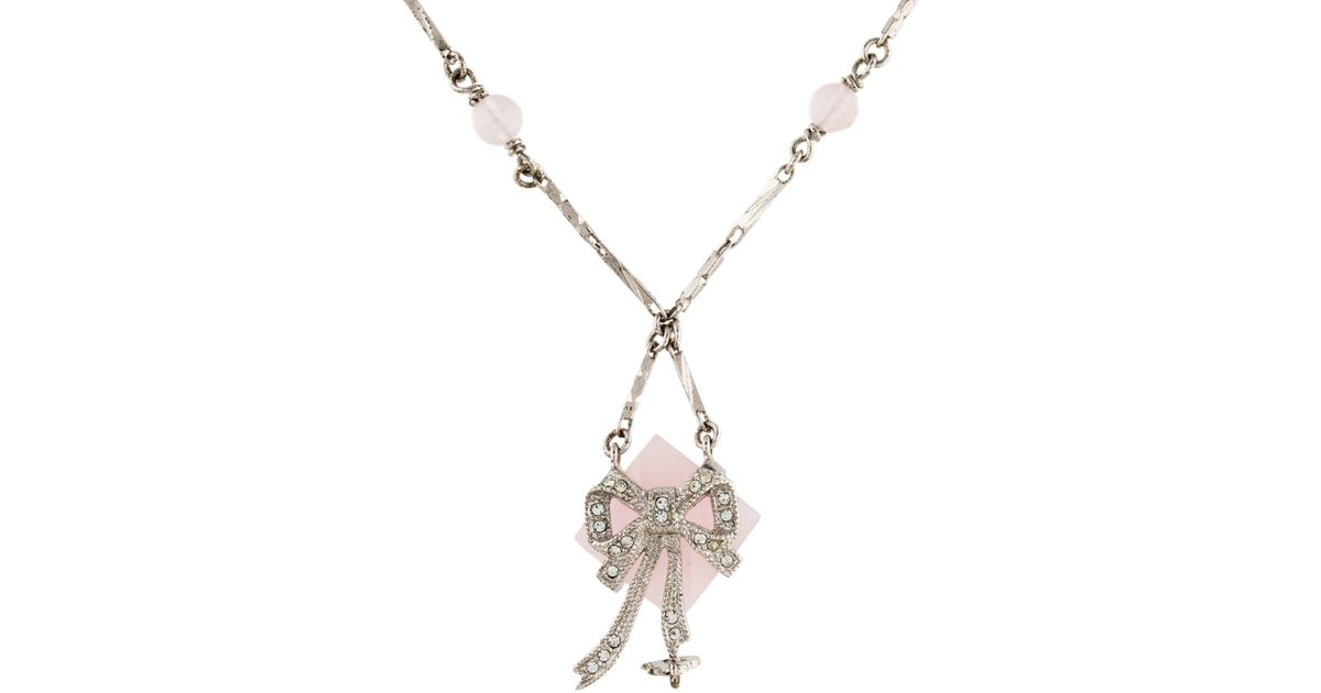 Rosa Maria pink quartz and diamond pendant necklace - Metallic dpm3z