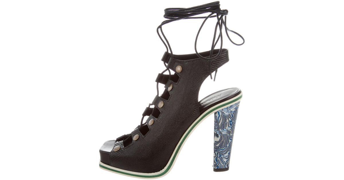 Rodarte Lace-Up Cage Sandals w/ Tags cheap sale pick a best for sale wholesale price iEU3ND