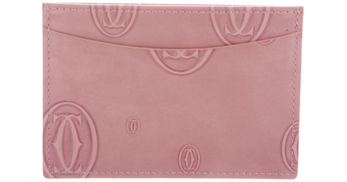 Lyst Cartier Happy Birthday Card Holder In Pink