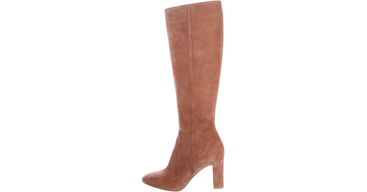 2014 unisex cheap price classic sale online Gianvito Rossi Suede Round-Toe Knee High Boots purchase for sale a0Jl9V