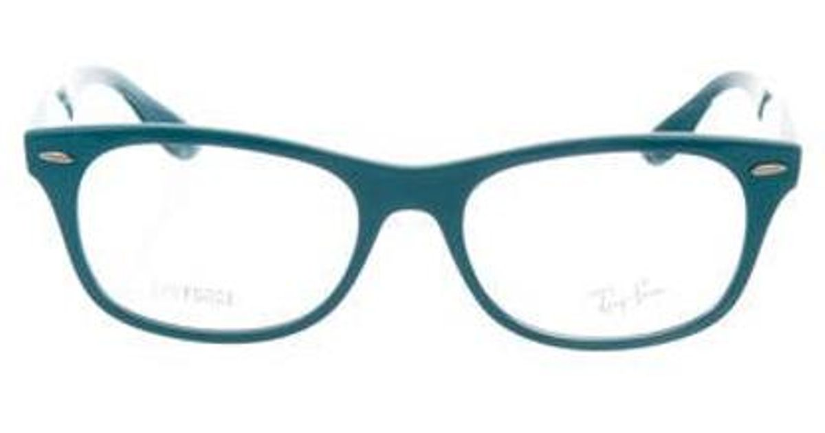 Lyst - Ray-Ban Square Frame Eyeglasses Turquoise in Metallic