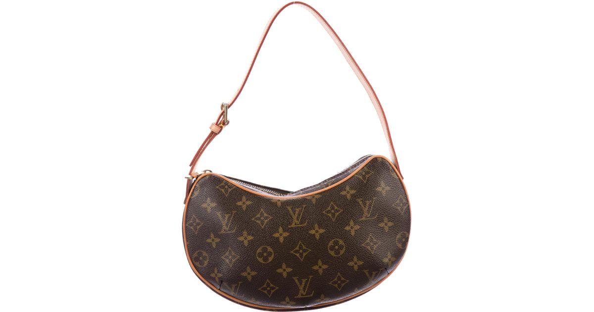 55881bc7fc18 Lyst - Louis Vuitton Monogram Croissant Pm Brown in Natural