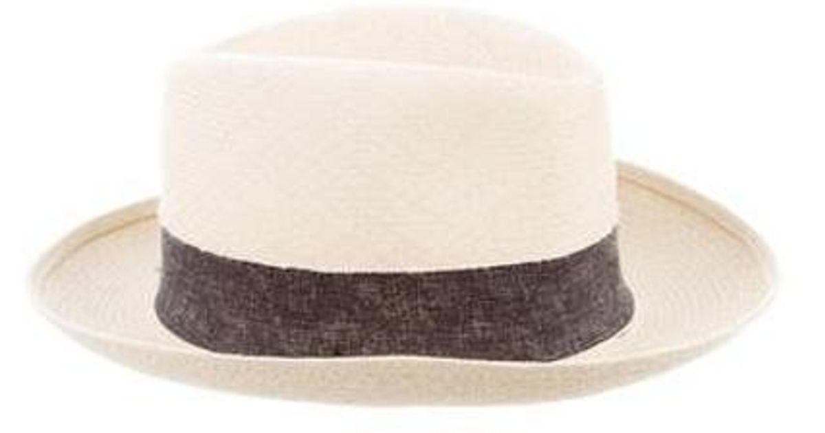 Lyst - Maison Michel Joseph Woven Hat W  Tags Tan in Natural 85f2294087e7