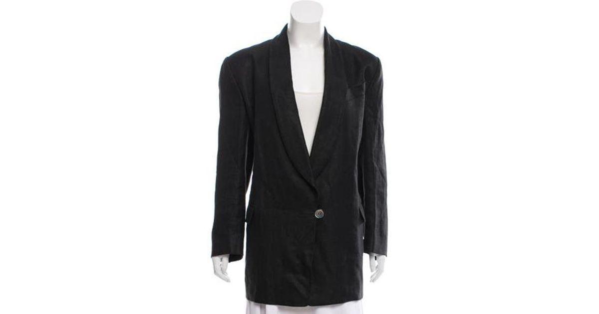 e8e2634ac0525 Lyst - Michael Kors Vintage Linen Blazer in Black